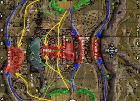 Карта Монастырь WOT тактика