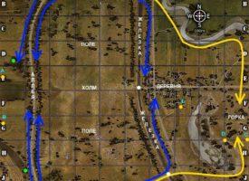 Карта Огненная дуга WOT тактика